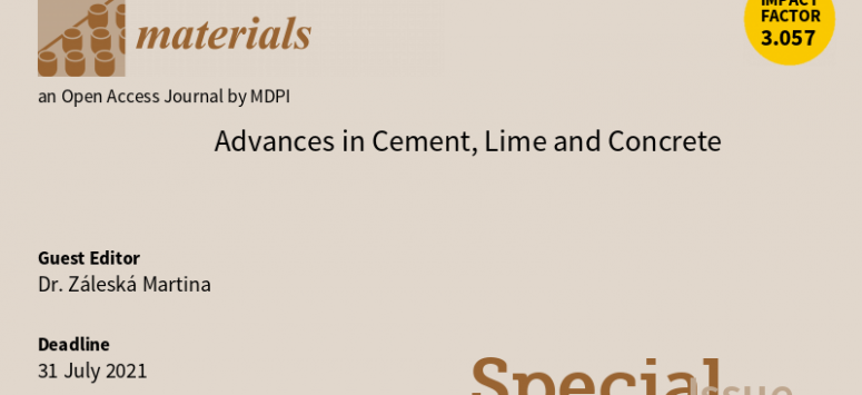Časopis Materials - Advances in Cement, Lime and Concrete