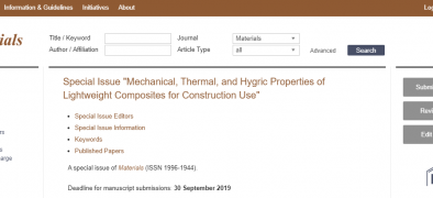 Special issue in Materials!