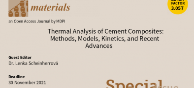 Časopis Materials - Thermal Analysis of Cement Composites: Methods, Models, Kinetics, and Recent Advances